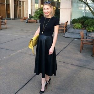 Lafayette 148 NYC pleather dress